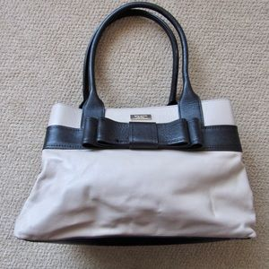 Kate Spade beige/black large leather purse